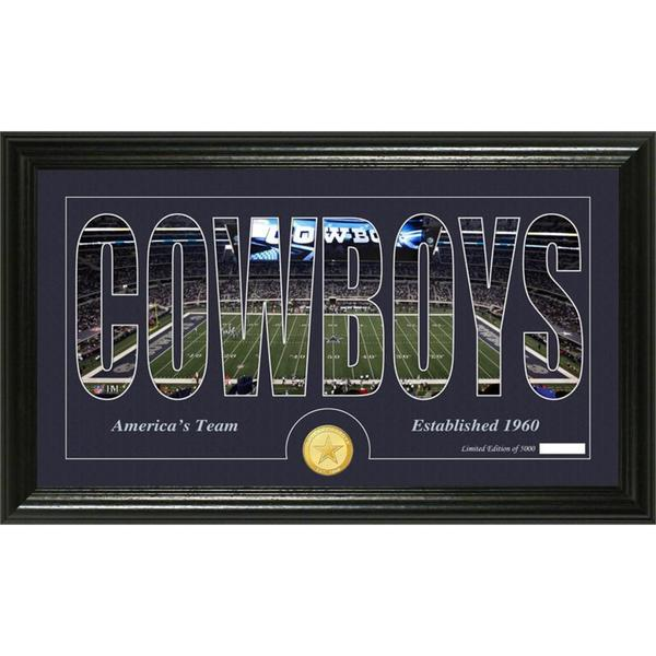 Dallas Cowboys 'Silhouette' Bronze Coin Panoramic Photo Mint