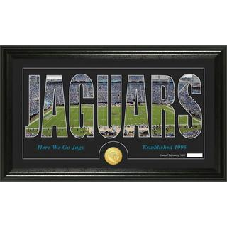 Jacksonville Jaguars 'Silhouette' Bronze Coin Panoramic Photo Mint