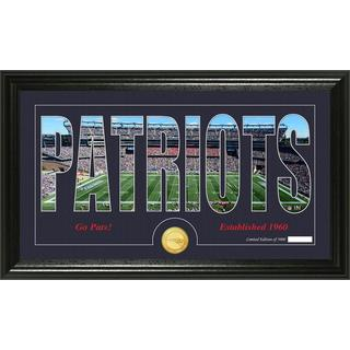 New England Patriots 'Silhouette' Bronze Coin Panoramic Photo Mint