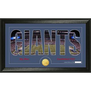 New York Giants 'Silhouette' Bronze Coin Panoramic Photo Mint