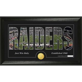 Oakland Raiders 'Silhouette' Bronze Coin Panoramic Photo Mint