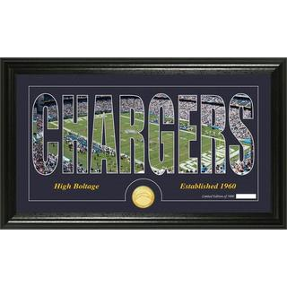 San Diego Chargers 'Silhouette' Bronze Coin Panoramic Photo Mint