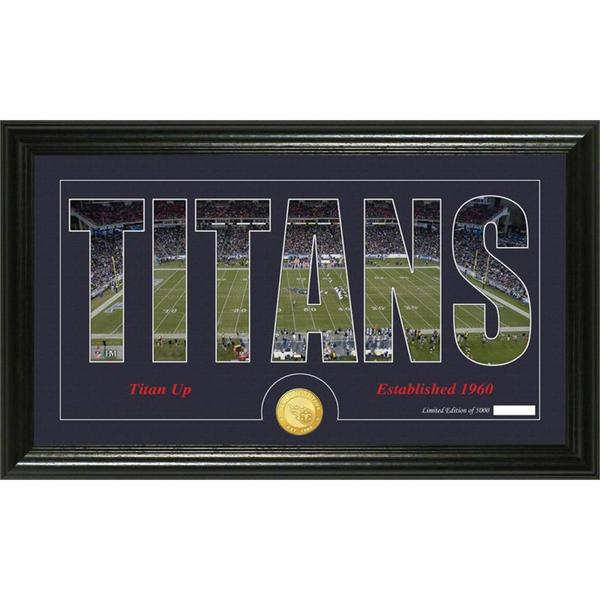 Tennessee Titans 'Silhouette' Bronze Coin Panoramic Photo Mint