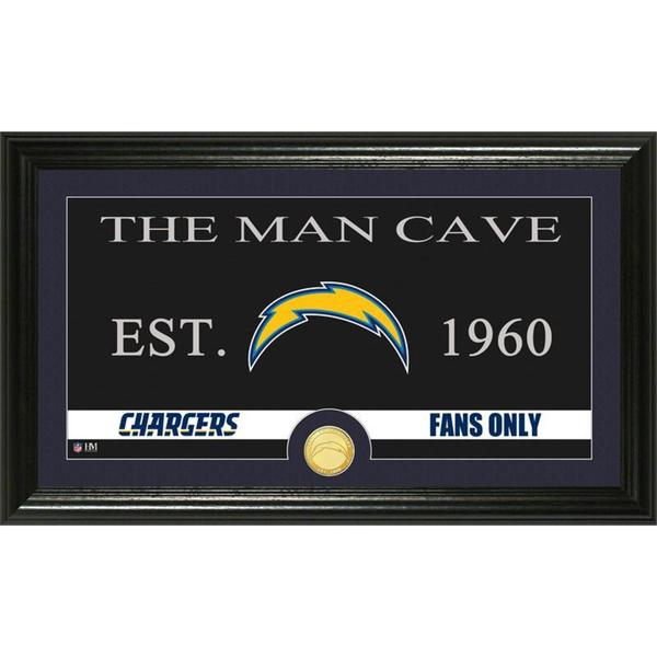 San Diego Chargers 'Man Cave' Bronze Coin Panoramic Photo Mint