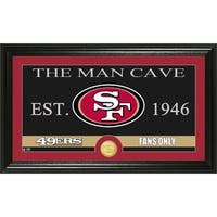San Francisco 49ers 'The Man Cave' Bronze Coin Panoramic Photo Mint