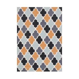 Alliyah Handmade Grey Wool Flat Weave Rug (5' x 8')