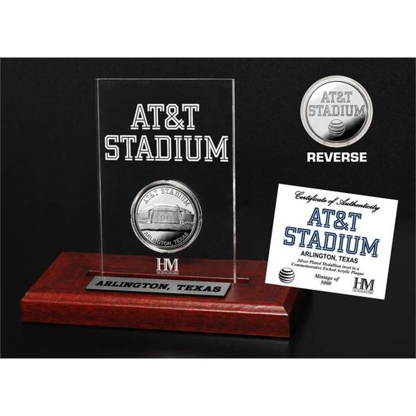AT&T Stadium Etched Display Silver Mint Coin