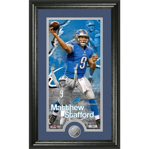 Matthew Stafford 'Supreme' Minted Coin Panoramic Photo Mint