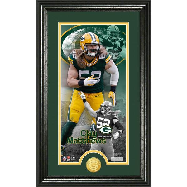 Clay Matthews 'Supreme' Bronze Coin Panoramic Photo Mint