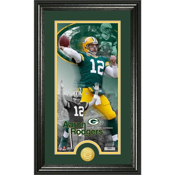 Aaron Rodgers 'Supreme' Bronze Coin Panoramic Photo Mint