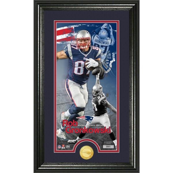 Rob Gronkowski 'Supreme' Bronze Coin Panoramic Photo Mint