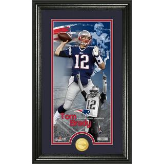 Tom Brady 'Supreme' Bronze Coin Panoramic Photo Mint