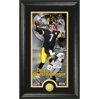 Ben Roethlisberger 'Supreme' Bronze Coin Panoramic Photo Mint