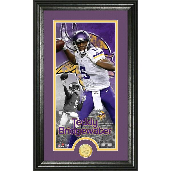 Teddy Bridgewater 'Supreme' Bronze Coin Panoramic Photo Mint