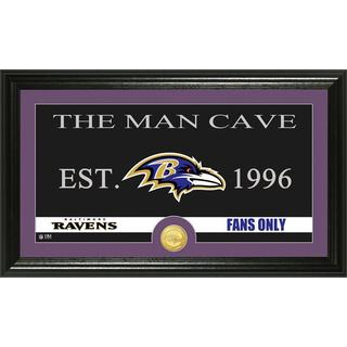 Baltimore Ravens 'Man Cave' Bronze Coin Panoramic Photo Mint