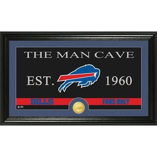Buffalo Bills 'Man Cave' Bronze Coin Panoramic Photo Mint