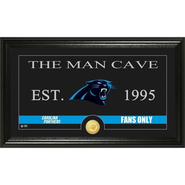 Carolina Panthers 'Man Cave' Bronze Coin Panoramic Photo Mint