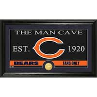 Chicago Bears 'The Man Cave' Bronze Coin Panoramic Photo Mint