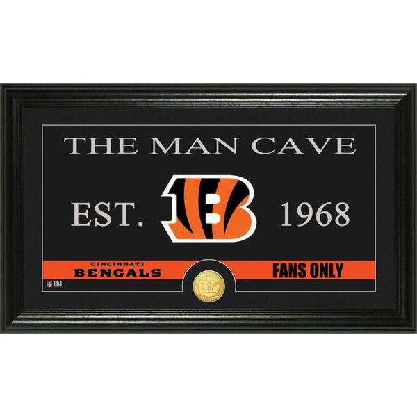 Cincinnati Bengals 'Man Cave' Bronze Coin Panoramic Photo Mint