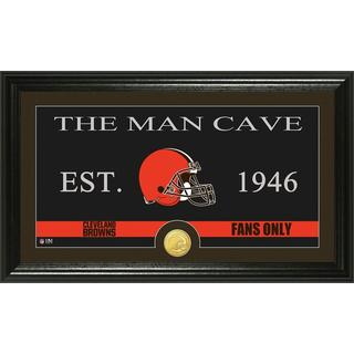 Cleveland Browns 'Man Cave' Bronze Coin Panoramic Photo Mint