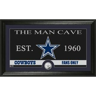 Dallas Cowboys 'The Man Cave' Minted Coin Panoramic Photo Mint