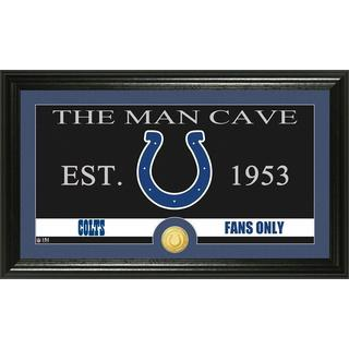 Indianapolis Colts 'The Man Cave' Bronze Coin Panoramic Photo Mint
