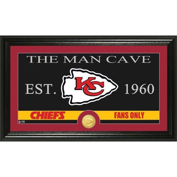 Kansas City Chiefs 'The Man Cave' Bronze Coin Panoramic Photo Mint