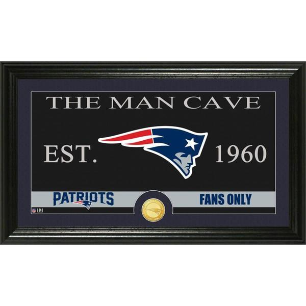 New England Patriots 'The Man Cave' Bronze Coin Panoramic Photo Mint