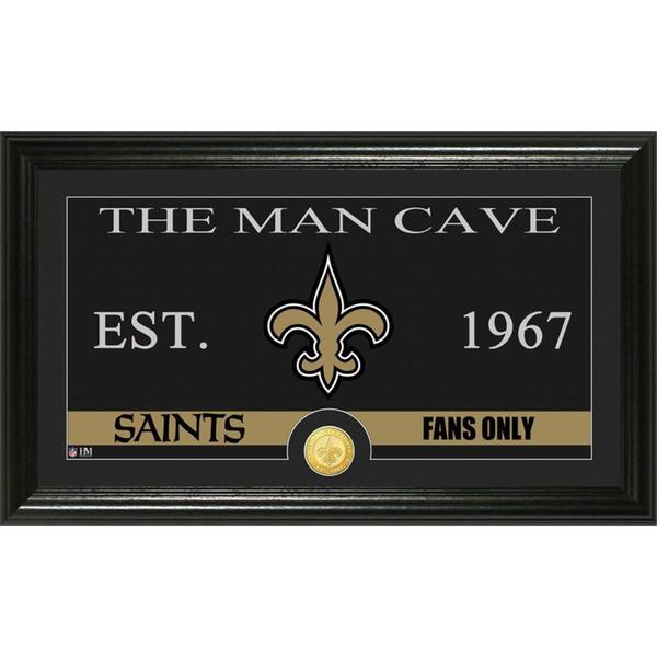 New Orleans Saints 'The Man Cave' Bronze Coin Panoramic Photo Mint