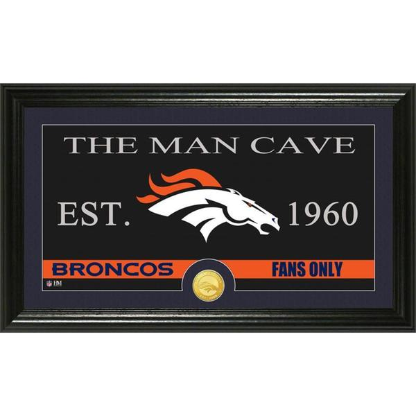 Denver Broncos 'The Man Cave' Bronze Coin Panoramic Photo Mint