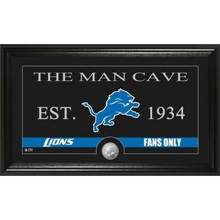 Detroit Lions 'Man Cave' Bronze Coin Panoramic Photo Mint