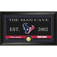 Houston Texans 'Man Cave' Bronze Coin Panoramic Photo Mint