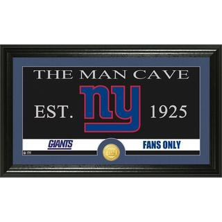 New York Giants 'Man Cave' Bronze Coin Panoramic Photo Mint