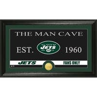 New York Jets 'Man Cave' Bronze Coin Panoramic Photo Mint