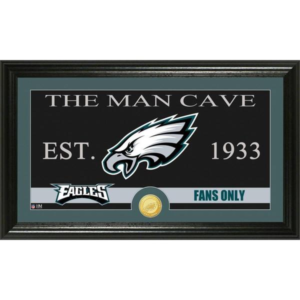 Philadelphia Eagles 'The Man Cave' Bronze Coin Panoramic Photo Mint