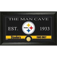 Pittsburgh Steelers 'The Man Cave' Bronze Coin Panoramic Photo Mint
