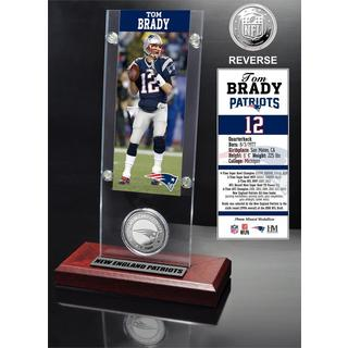 Tom Brady Ticket and Minted Coin Acrylic Desk Top
