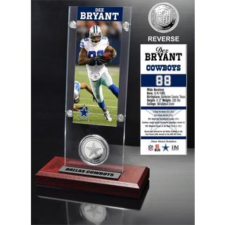 Dez Bryant Ticket and Minted Coin Acrylic Desk Top