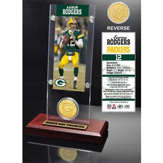 Aaron Rodgers Ticket and Bronze Coin Acrylic Desk Top