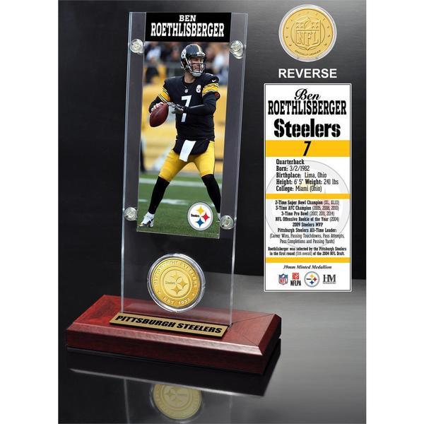 Ben Roethlisberger Ticket and Bronze Coin Acrylic Desk Top