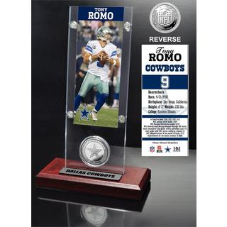Tony Romo Ticket and Minted Coin Acrylic Desk Top