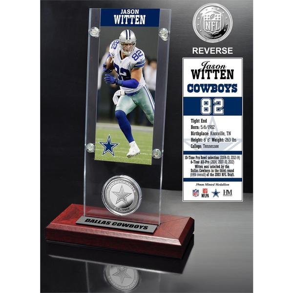 Jason Witten Ticket and Minted Coin Acrylic Desk Top