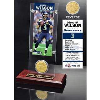 Russell Wilson Ticket and Bronze Coin Acrylic Desk Top