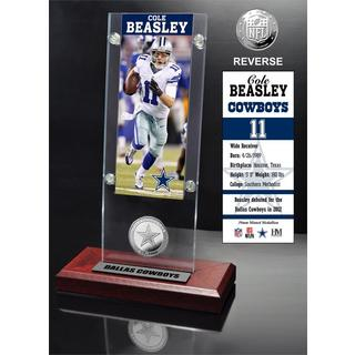 Cole Beasley Ticket and Minted Coin Acrylic Desk Top