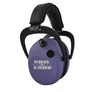 Pro Ears NRR 25 Stalker Gold Purple Electronic Hearing Protection and Amplification Earmuffs