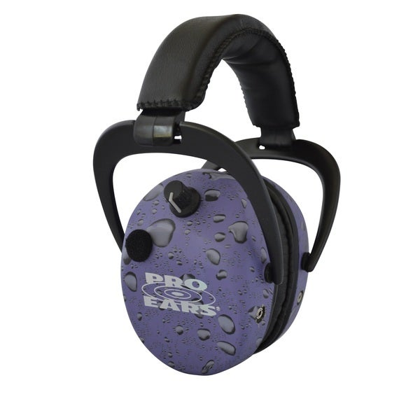 Pro Ears NRR 25 Stalker Gold Purple Rain Electronic Hearing Protection and Amplification Earmuffs