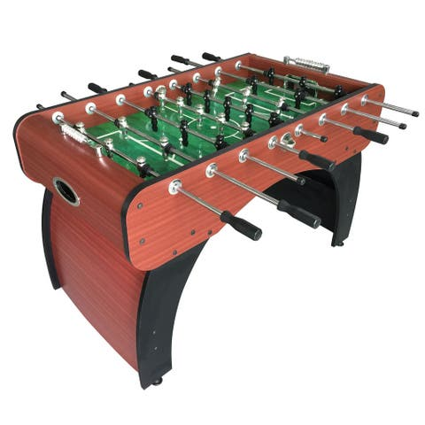 Metropolitan Foosball Table, Modern Soccer Game Table for Kids and Adults with Cherry Finish, 54-In