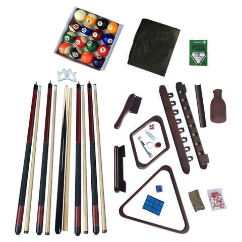 Deluxe Billiards Accessory Kit Mahogany Finish