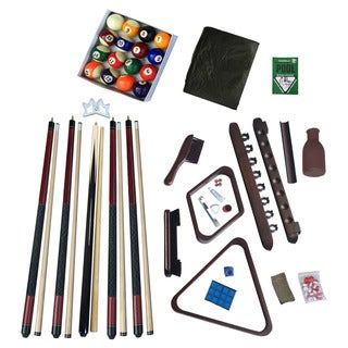 Deluxe Billiards Accessory Kit Mahogany Finish