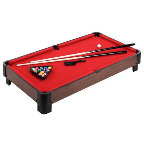 Striker 40-in Table Top Pool Table - Red